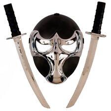 Set Ninja lusso, Nero Argento Accessori Costume Carnevale PS 09334