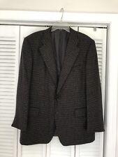 Ermenegildo Zegna Saks 100% Cashmere Black Plaid Sport Coat Blazer Jacket 46/56