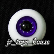 Extra High Grade & Quality Glass Eye 12mm Deep Purple Vein YoSD DOD Lati Yellow