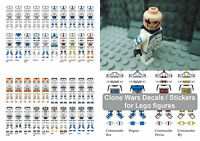 Clone Wars Trooper Decals / Stickers for Lego in a Star Wars Style