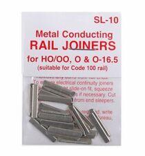 PECO SL-10 x 12 Packs of 24 Fishplates (Track Joiners) 00 Code 100 Std Rail New