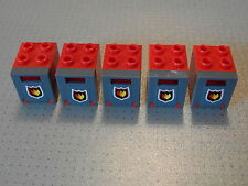 5 Grey & White Container 4345 4346 Post Mail Boxes 2x2x2 Lego