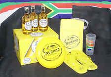 12 x Savanna Dry Cider Set mit Becher, Slipper, Kühltasche und Frisbeescheibe