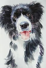 A Portrait of Your Dog in Watercolour by Professional Artist Christopher Cole