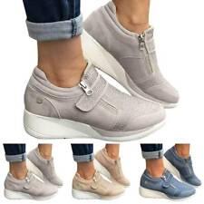 Women Sport Board Gym Shoes Thick-Soles Heighten Rhinestone Casual Light Sneaker