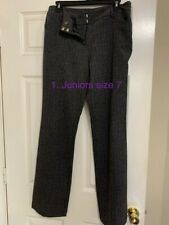 Juniors Slacks, Grey, Size 7