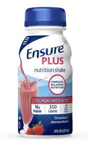 Ensure Plus Nutrition Shake Strawberry 8 oz Bottle Abbott 58301 24 Ct