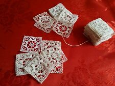 10 inserti antichi pizzo ago burano ricamo mano tenda cuscini tovaglia lenzuola