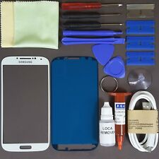 Samsung Galaxy S4 i9500/ i9505 Front Glass Screen Replacement Repair Kit WHITE