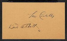 Abbott & Costello Autograph Reprint On Genuine Original Period 1940s 3x5 Card