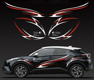 For TOYOTA C-HR CHR 2016-2020 Car body Side door Decal decoration Stickers