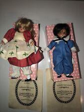 "2 Rare Effanbee Wee Patsy Hansel & Gretel Miniature Doll 5"" Tall"