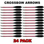 24 ALUMINUM METAL BOLTS ARROWS FOR 50 & 80 LB CROSSBOW ARCHERY XBOX - RED