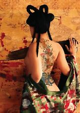 VECTOR GEISHA JAPANESE SEXY NUDE GIRL NEW ART PRINT POSTER YF1430