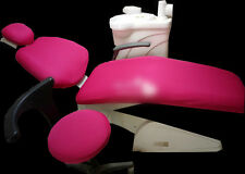 Dental Unit Cover Cloth Dentist Chair Protector Sleeves Red Washable 1Set