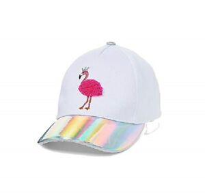 NWT J E B M K A Justice Girls Rose Gold Glitter Baseball Cap Hat Gray Adjustable