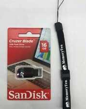 16GB USB 2.0 FlashDrive SanDisk Cruzer Blade SDCZ50-016G W/ Free Lanyard