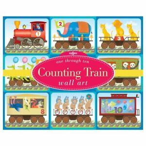 eeBoo  Counting Train Nursery Classroom Homeschool Wall Art