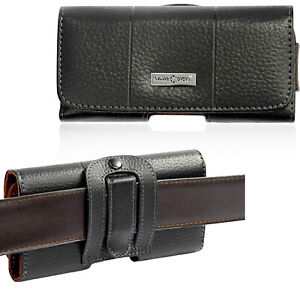 Genuine Leather Waist Belt Clip Pouch Cover For Samsung Galaxy Note 10 9 S20 S10