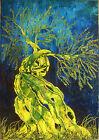 quadro moderno dipinto a mano olio su tela 70X100 paesaggio ulivo M. RANCURA