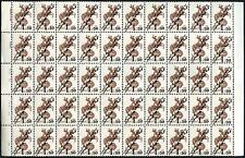 Kazakhstan 1992 SG#11, 1R50 On 1K Brown MNH Block Of 50 Cat £42.50 #V6115