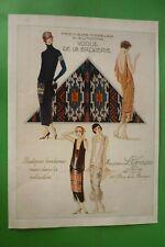 1925ORIGINAL Art Déco Annonce Impression Maurice Lefranc & C.Vêtements Mode
