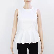 River Island Womens Size 8 Sexy White Cotton Top