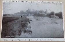 Vintage Old Postcard Posted 1914 Windsor Castle & River Boats Rowing People