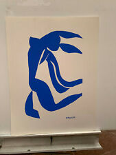 HENRI MATISSE serigraph 18x23 blue woman abstract print art NEVER FRAMED!