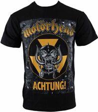 Officially Licensed  MOTORHEAD UNISEX TEE: ACHTUNG!/T Shirt/Black/UNISEX