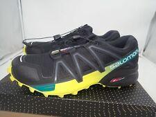 Salomon Men's Speedcross 4 Trail Running Shoes, Black/Everglade 8 M