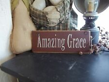 Wood Sign Rustic/Prim Country Wall Hanging Home Decor Sign AMAZING GRACE Sign
