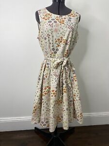 Princess Highway Retro 50's Style Cotton Dress With Tie Waist Size 12 VGUC