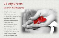 TO MY GROOM on our wedding day (personalised gift) -3