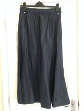 BNWT M&S Per Una Dark Blue Panelled Denim Maxi Skirt Size 10
