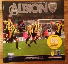 Burton Albion v Gillingham - Div 2 Football Programme - Played 27/04/2013
