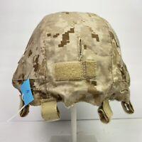 M/L USMC Desert MARPAT Advanced Combat Helmet Cover ACH ECH MICH Has EGA USGI