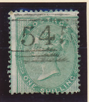 Great Britain Stamp Scott #28, Used, Shifted, Numeric Cancel