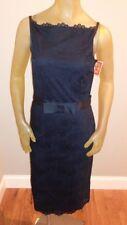 NWT Isaac Mizrahi BLACK Lace Spaghetti Strap Dress Womens size 4