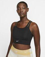 Nike Swoosh Icon Clash Support Pocket Sports Bra Women's Black Yellow Activewear