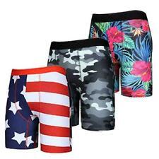 Men Boxer Briefs Underwear Sports Shorts Trunks Breathable Pouch Panties 3 PC M