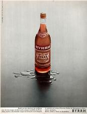 ▬► PUBLICITE ADVERTISING AD BYRRH Photo Maurice Smith