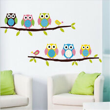 cartoon owl tree wall stickers for living wall decals child sticker wallpaper*_*