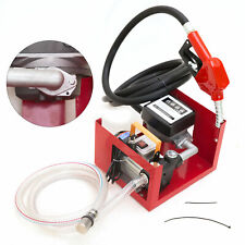 220v 550w Electric Diesel Oil Fuel Transfer Pump With Mechanical Meter Hose Nozzle