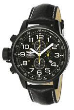 Relojes de pulsera de acero inoxidable de cuero cronógrafo