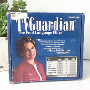 Vintage TV Guardian Foul Language Profanity Filter Model 301 New Open Box