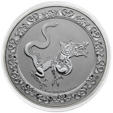 NIUE 2 Dollars Argent 1 Once Animaux Célestes Serpent Jaune 2020