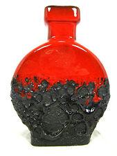 Well shaped 70´s design JOPEKO Fat Lava Keramik  ase 909 / 15   glossy red glaze