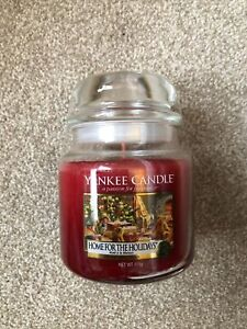 Yankee Home For The Holidays Medium Jar in Presentation Gift Box Christmas New