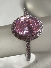 Bella Luce Pink Cz Sterling Silver Ring 3.59 Ctw Sz 8 Nwot
